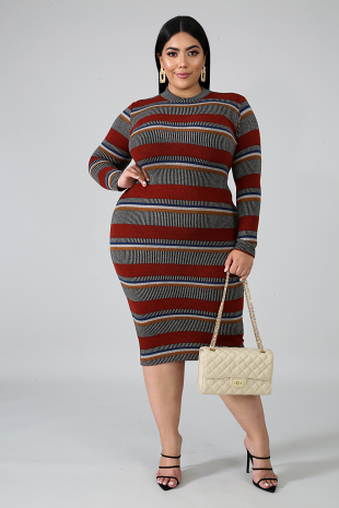 Aztec Knit Body-Con Dress