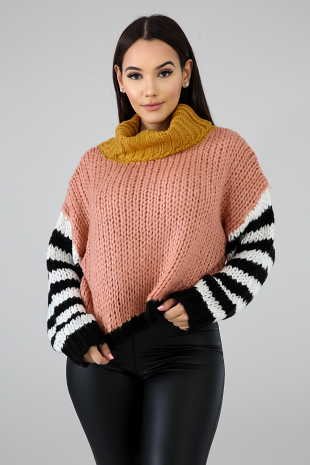 Cowl Knit Sweater