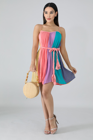 Braided Flare Dress