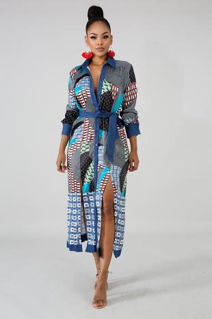 City Slit Maxi Dress
