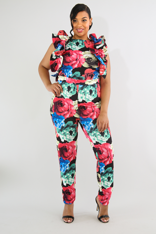 c11460f4d6e Rainbow Flowers Jumpsuit