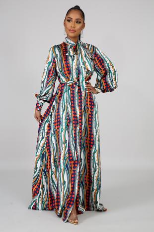 Bursting Spots Maxi Dress