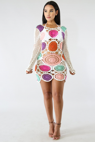 Color Pop Crochet Dress