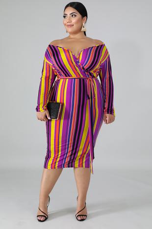 Chantal Stripe Dress