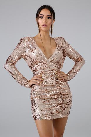 Sequin Lace Dress