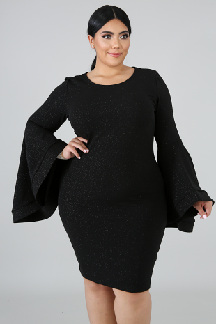 Glitter Bell Body-Con Dress