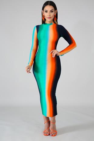 Night Dye Body-Con Dress