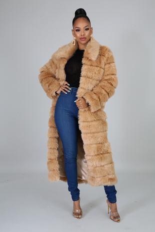 Cuddle Fur Trench Coat