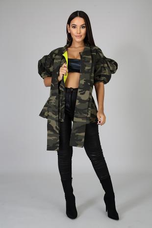 Camo Fluff Jacket