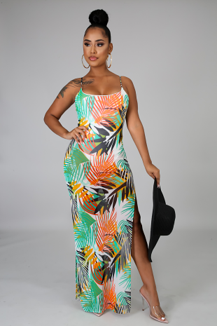 Tropical Leaves Dress