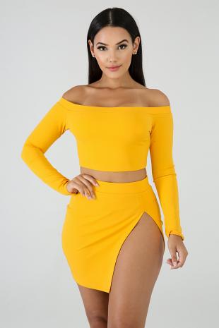 Slit Skirt Set