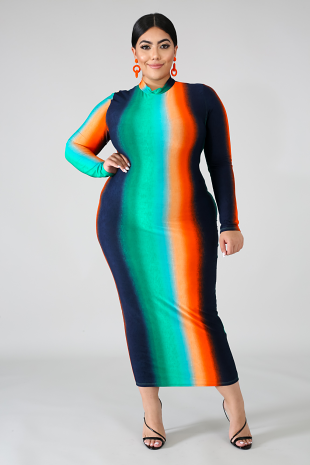 Night Dye Body-Con Dress