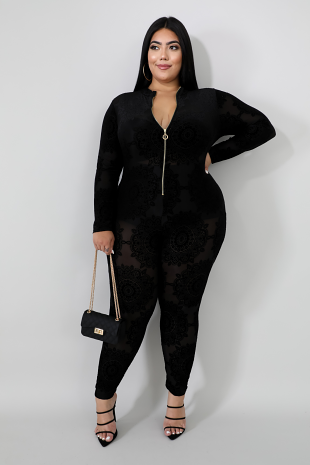 Velvet Medallion Jumpsuit