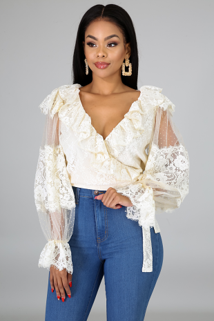 Lace Wrap Crop Top