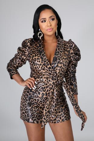 Leopard Shine Romper