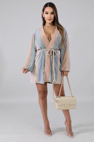 Sweet Shine Wrap Dress