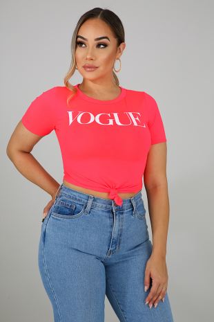 Neon Vogue Top