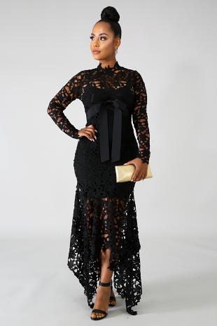 Crochet Midi Fare Dress