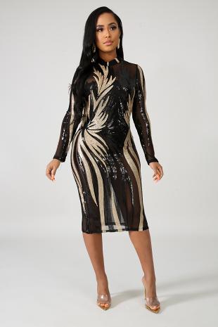 Exotic Sequin Dress