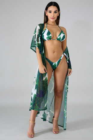 Palms Kimono Swim Set