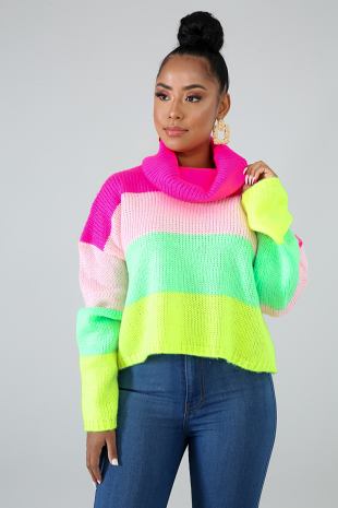Color Bright Sweater Top
