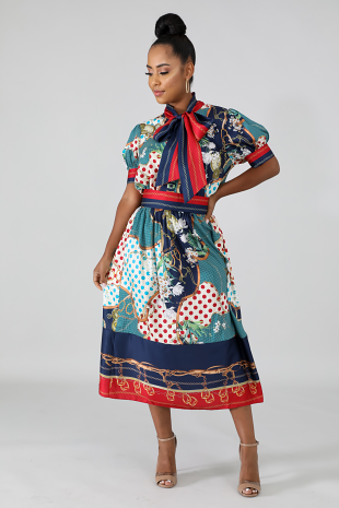 Silky Times Skirt Set