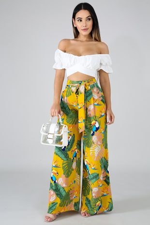 Tropical Parquet Pants
