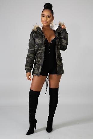 Camouflage Fuzzy Jacket