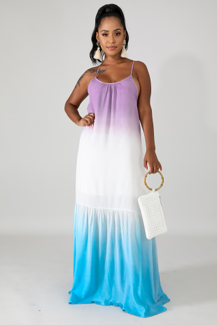 Miami Blues Maxi Dress