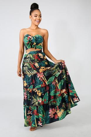 Floral Avery Maxi Skirt Set