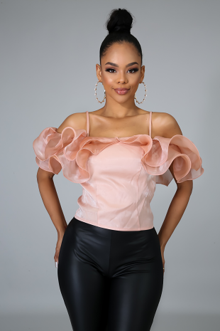 No Drama Ruffle Top