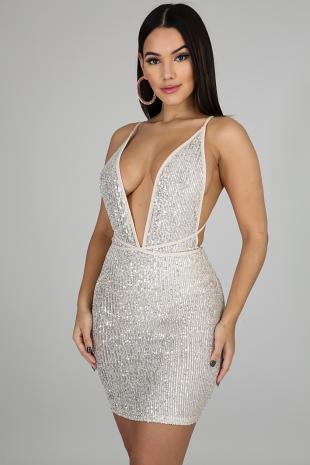 Sequin Love Mini Dress
