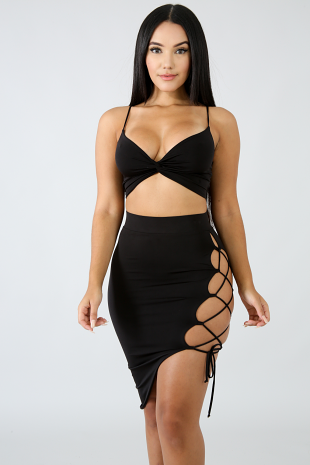 Fierce Ladder Edge Skirt Set