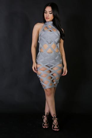 Strong Bandage 3-Piece Dress Set