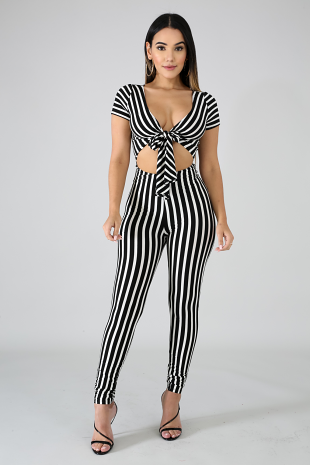 Tia Stripe Jumpsuit