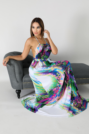 Swirled Maxi Dress