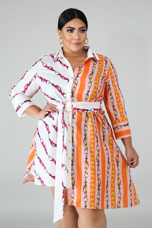 Oranges Flare Dress
