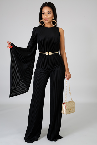 Velvet Striped Jumpsuit