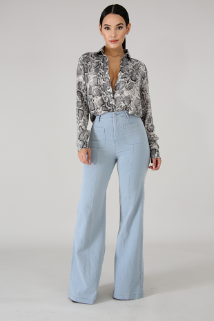 High Waist Bell Bottoms Jeans