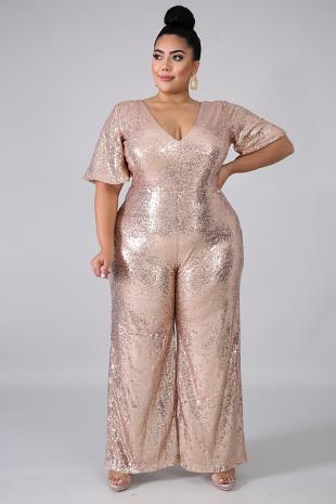 Sequin Glam Jumpsuit