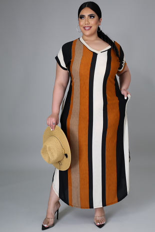 Stripe Season Tunic Dress