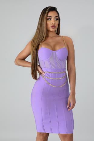 Chain Bandage Body-Con Dress