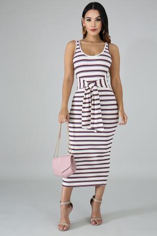 Tie Strap Midi Dress
