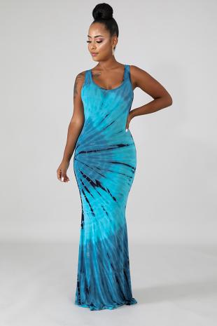 Mermaid Dye Dress
