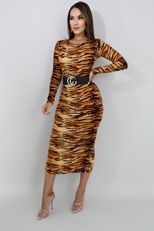 Fierce Stripes Midi Dress