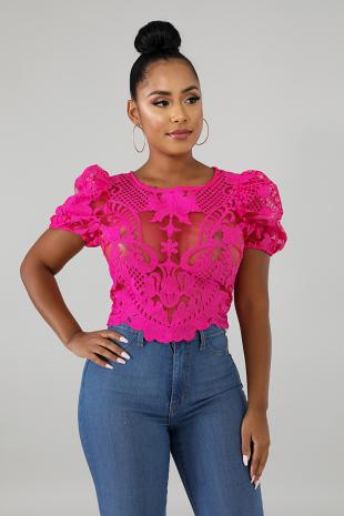 Dolly Crochet Top