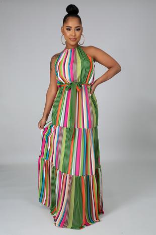 All The Stripes Dress