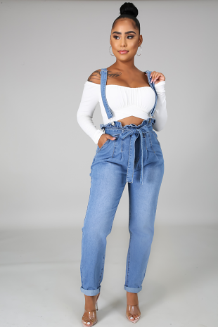 Get Over Me Denim Overall
