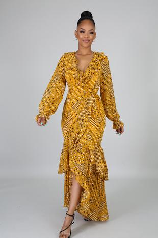 Polka Flare Dress