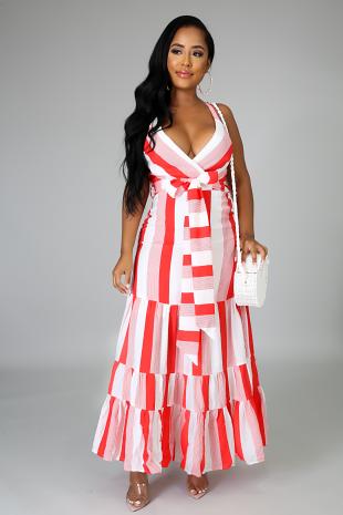 Flaming Maxi Dress
